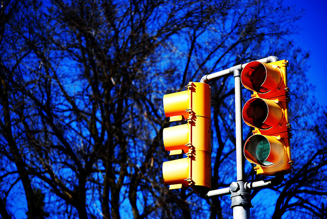 Red for Stop and Green for Go