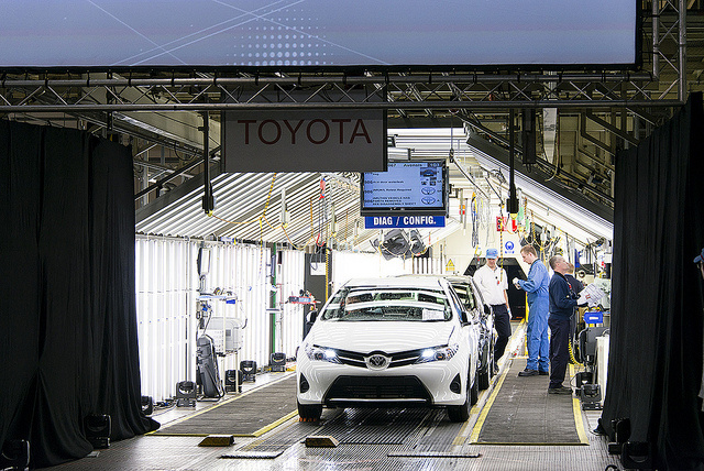Toyota's production line today. Image: Department for Business, Innovation and Skills
